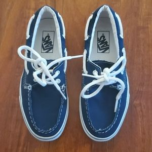 Navy blue slip on tie Vans